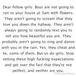 Cu sinceritate, pentru fete